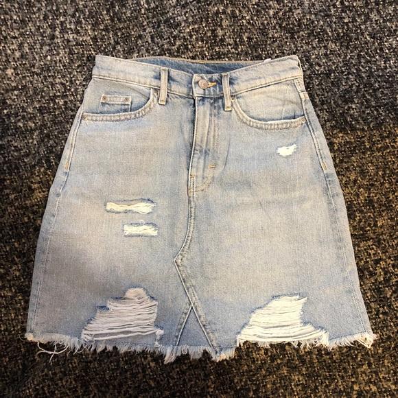 H&M denim mini skirt.